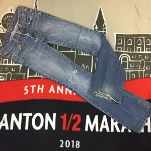 7 for all Mankind Destroyed Flare Jeans 24